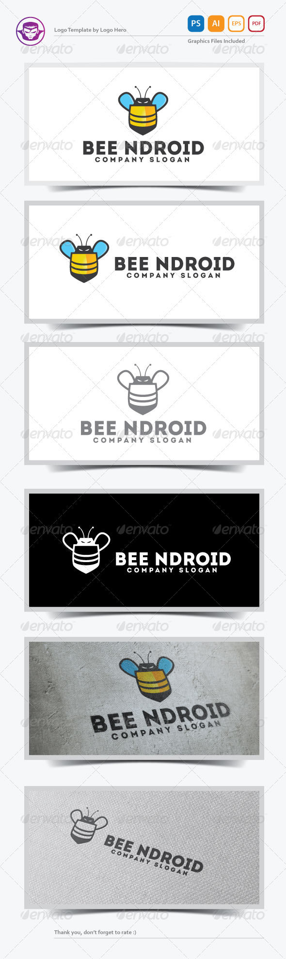 GraphicRiver Bee Ndroid Logo Template 5583394