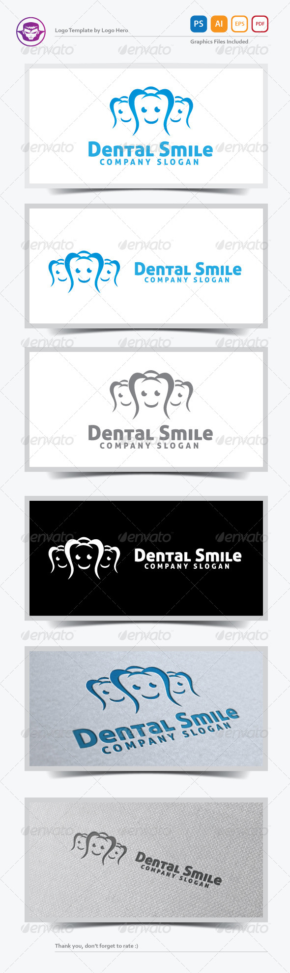 GraphicRiver Dental Smile Logo Template 5583399