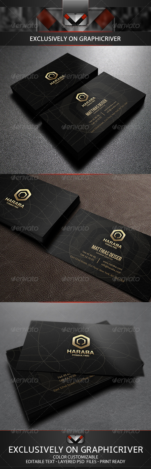 GraphicRiver Golden Business Card 5584094