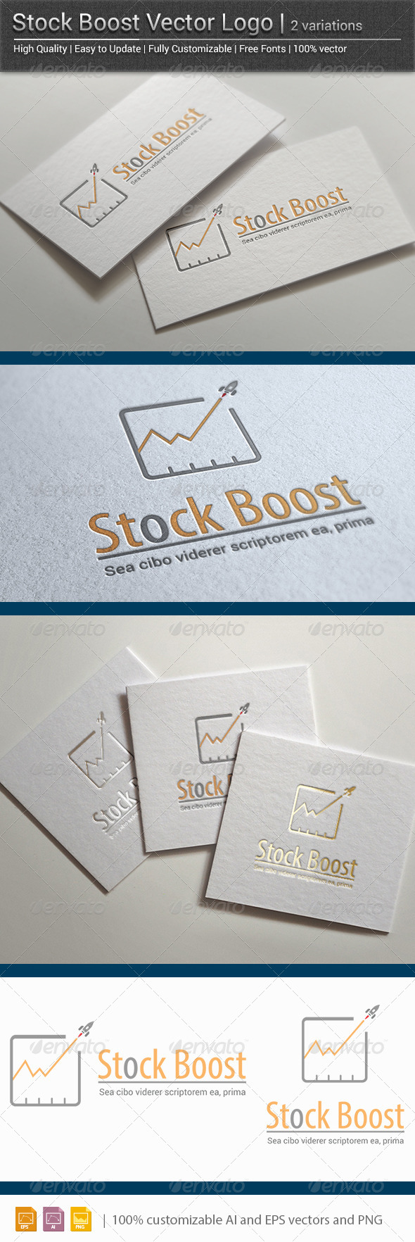 Stock Boost Vector Logo  - Vector Abstract