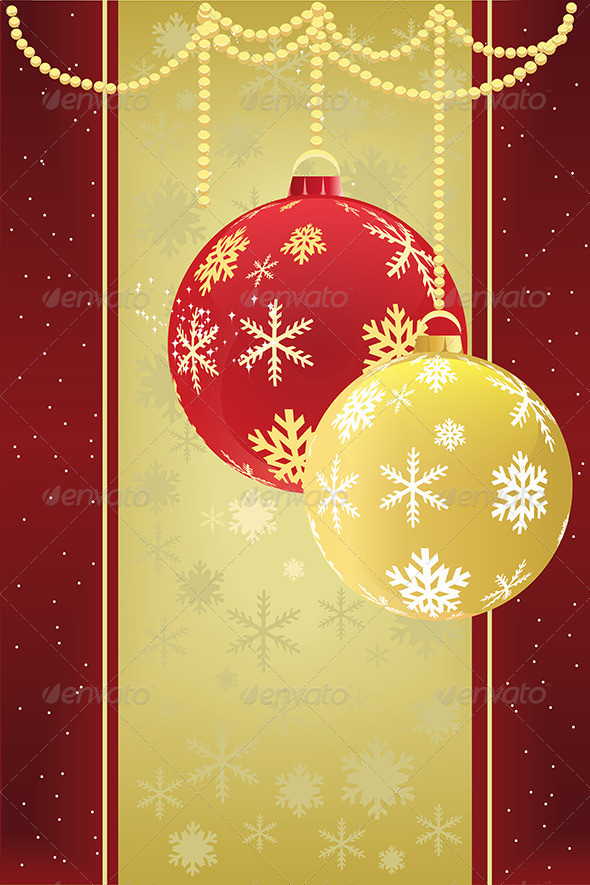 GraphicRiver Christmas Baubles Background 5585151