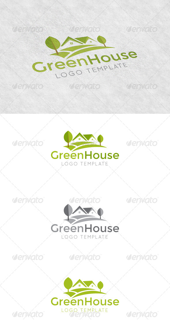 GraphicRiver Green House Logo Template 5585338