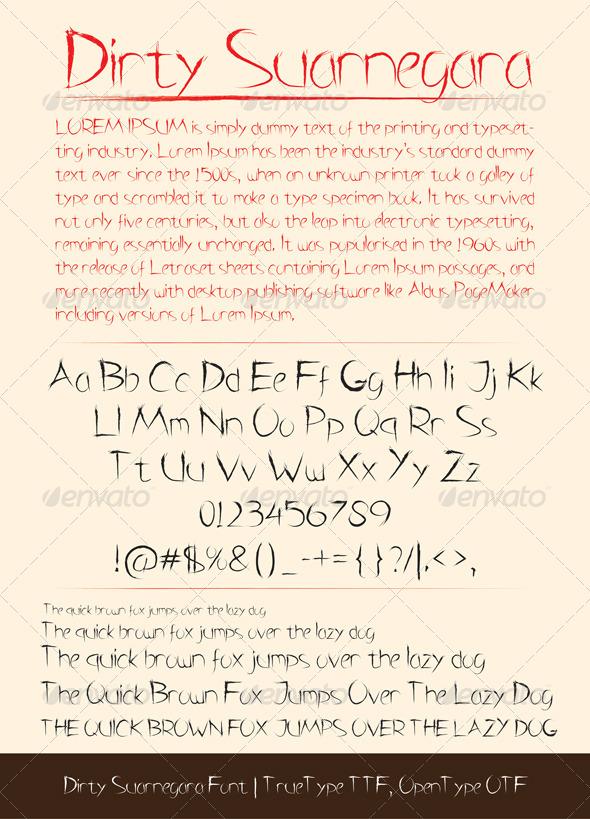GraphicRiver Dirty Suarnegara Font 5543658