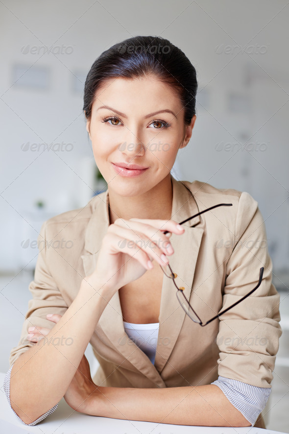 Elegant business lady - Stock Photo - Images