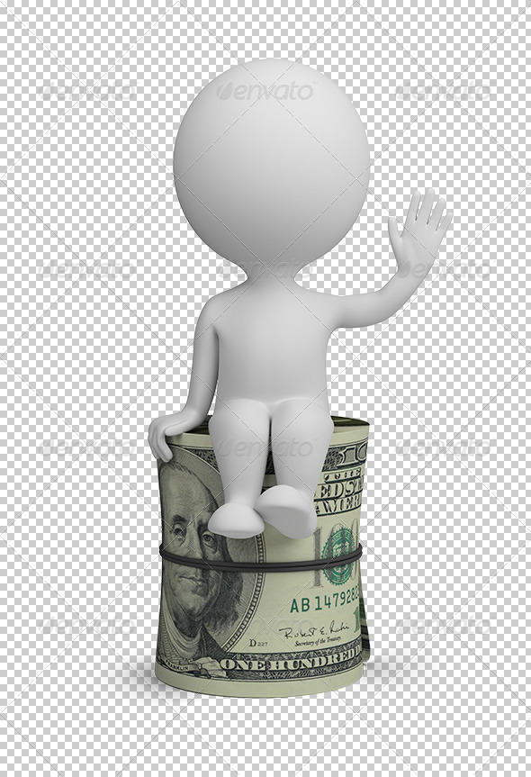 GraphicRiver 3D small people roll dollars 5586773