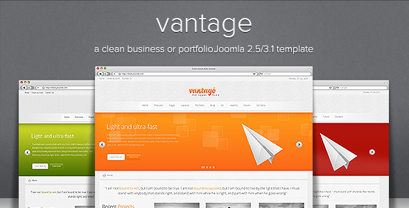 Vantage - Clean Responsive Joomla Template - Business Corporate