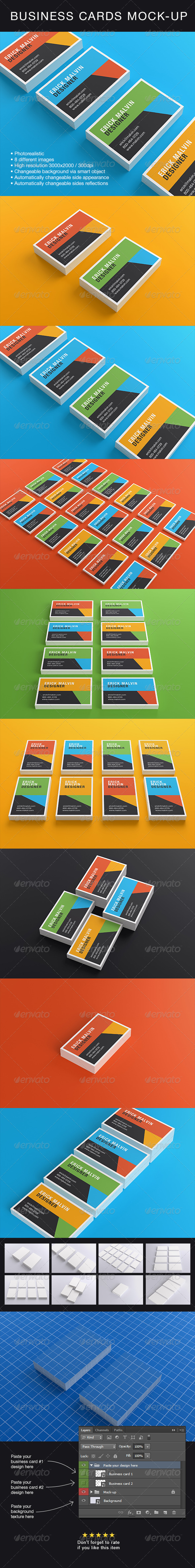 Business Cards Mock-up [8.5×5.5 cm] - Business Cards Print