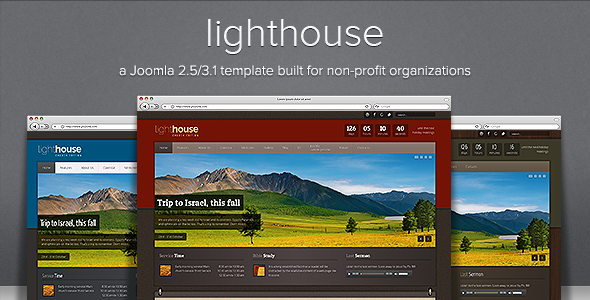 Lighthouse - Responsive Joomla Template - Screenshot 01 - Lighthouse Responsive Joomla 2.5/3.1 Template