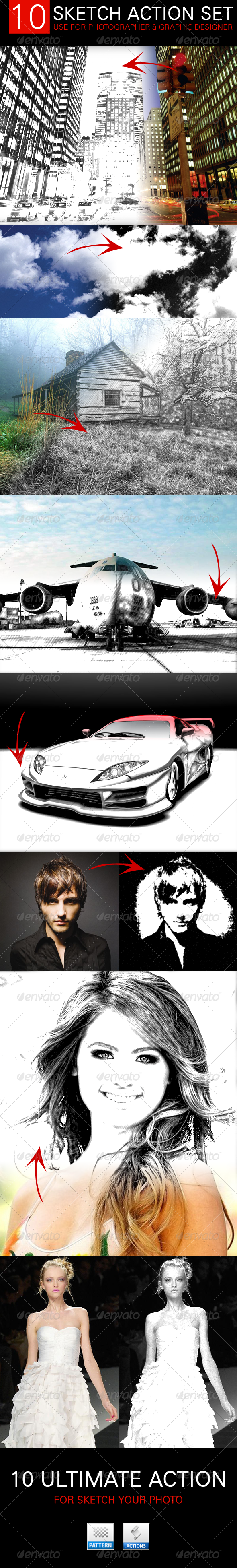GraphicRiver 10 Ultimate Action Pencil Sketch 5564081