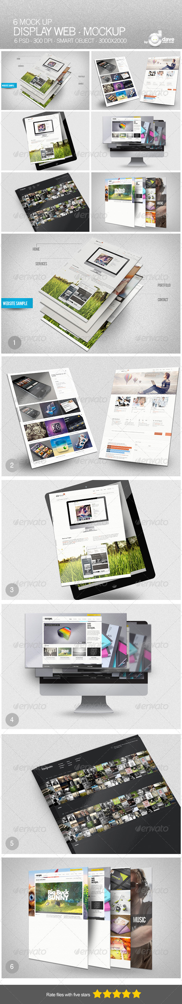 Display Web - Mockup - Website Displays
