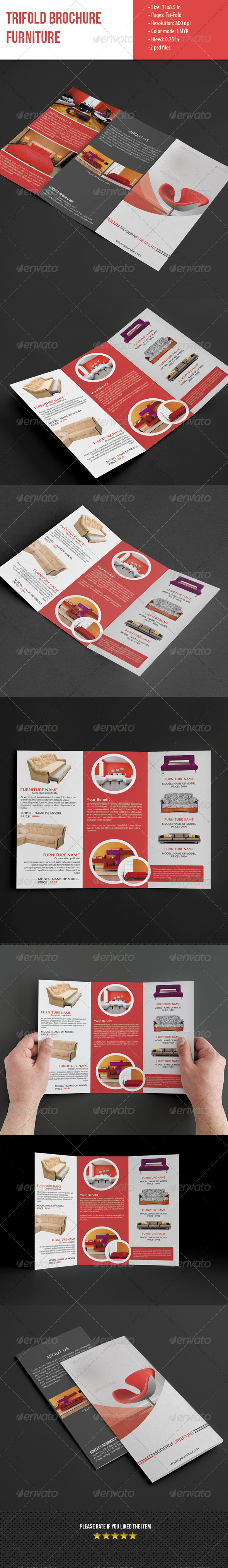 GraphicRiver Trifold Brochure for Furniture 5589824