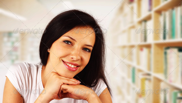 Portrait of a college student - Stock Photo - Images