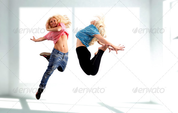 Dancer jumping - Stock Photo - Images