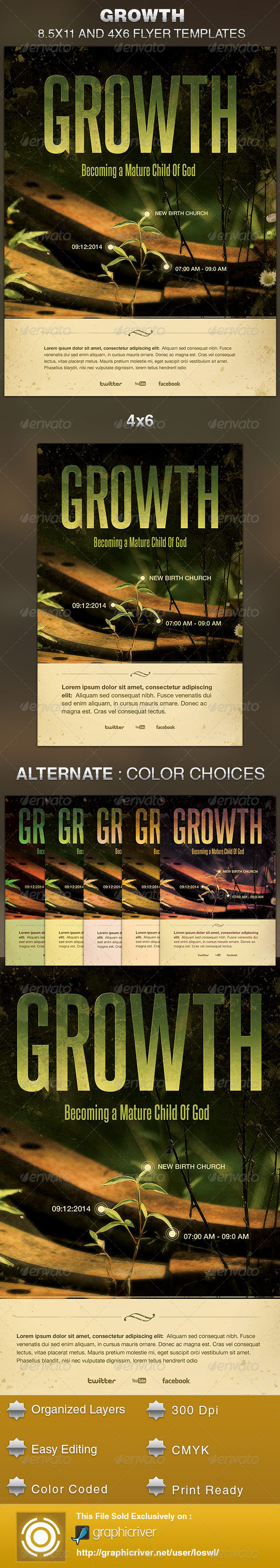 GraphicRiver Growth Church Flyer Template 5590968