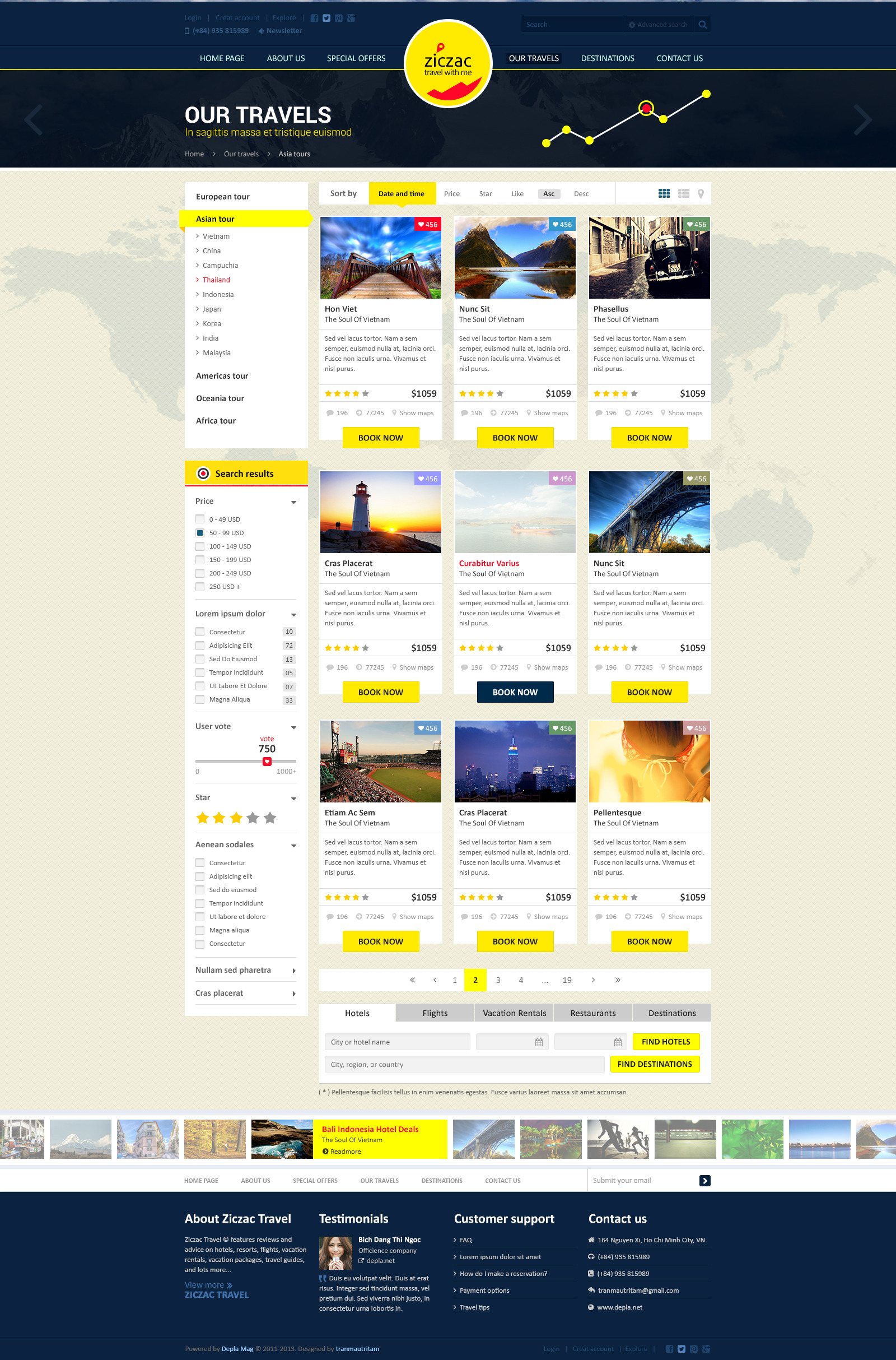 Ziczac Travel – HTML5 Responsive Booking Template