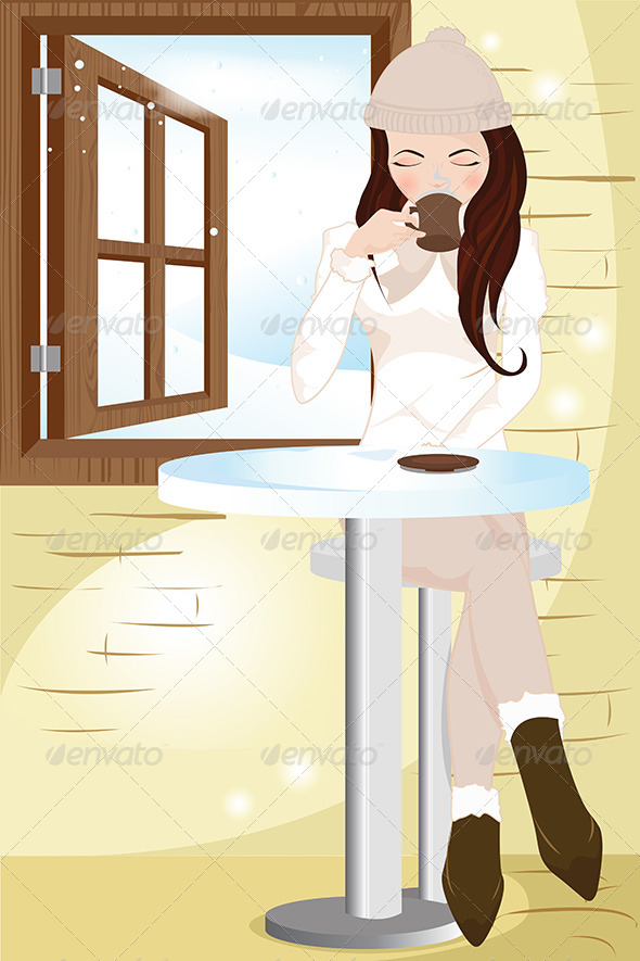GraphicRiver Drinking Coffee 5591680