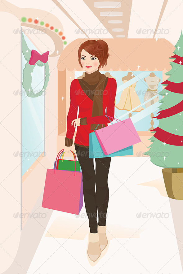 GraphicRiver Shopping Woman 5591782