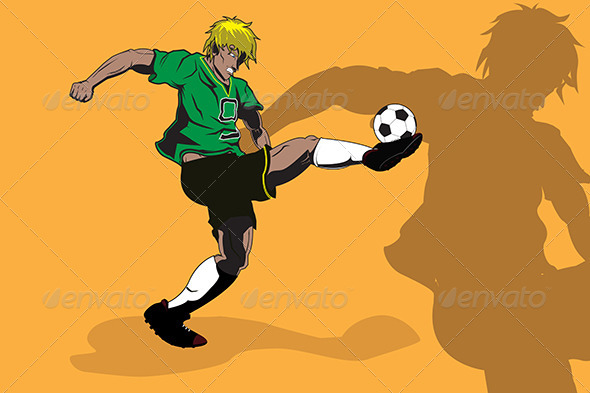 GraphicRiver Soccer Player 5591919