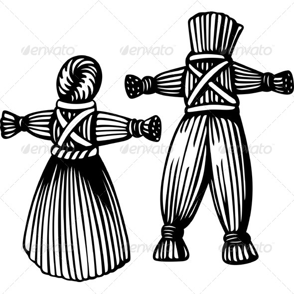 GraphicRiver Straw Man and Woman 5591924