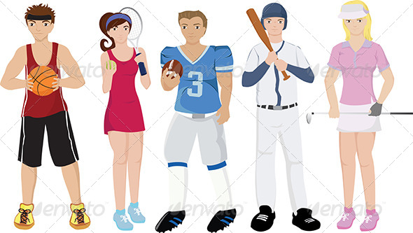 GraphicRiver Athletes Illustrations 5592109