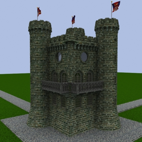 3DOcean Castle Guard Tower 574486