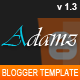 Adamz - Responsive Blogger Template - ThemeForest Item for Sale
