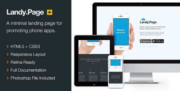 Landy.Page - Responsive Retina Landing Page - Software Technology