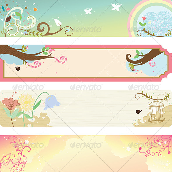 GraphicRiver Spring Season Banner 5592766
