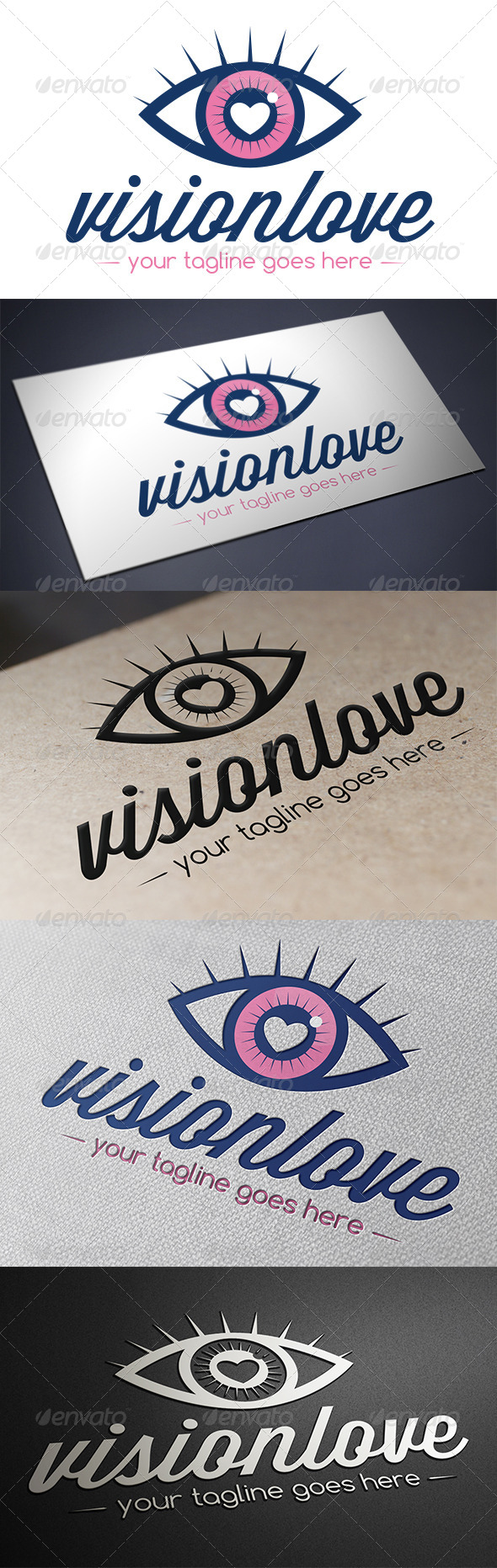GraphicRiver Vision Love Logo Template 5592803