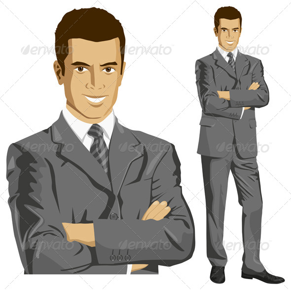 GraphicRiver Vector Businessman In Suit 5593904