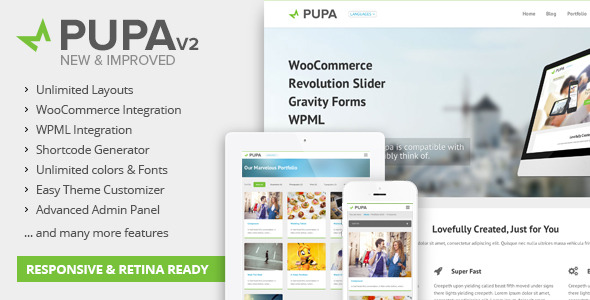 Pupav2 - Multi-Purpose WordPress Theme