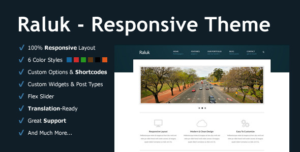 ThemeForest Raluk Responsive Business Theme 5580966