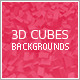 3D Cubes Clean Backgrounds - GraphicRiver Item for Sale