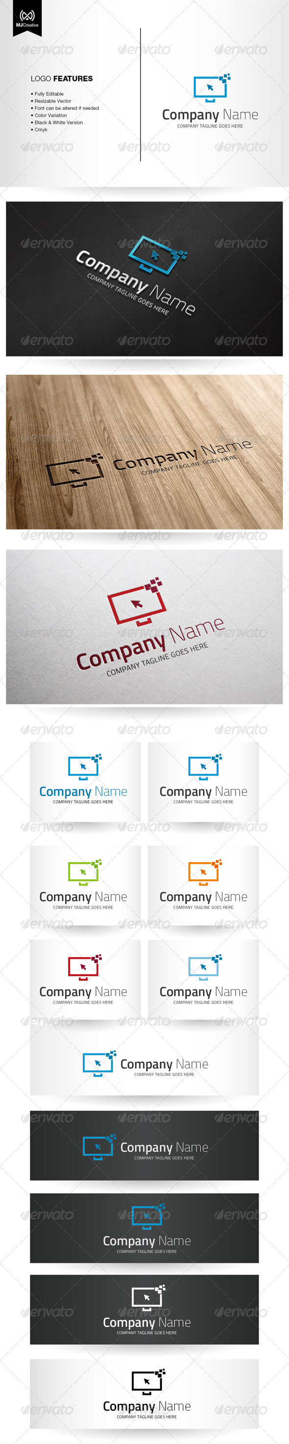 GraphicRiver Digital And Technology Screen Logo 5596041
