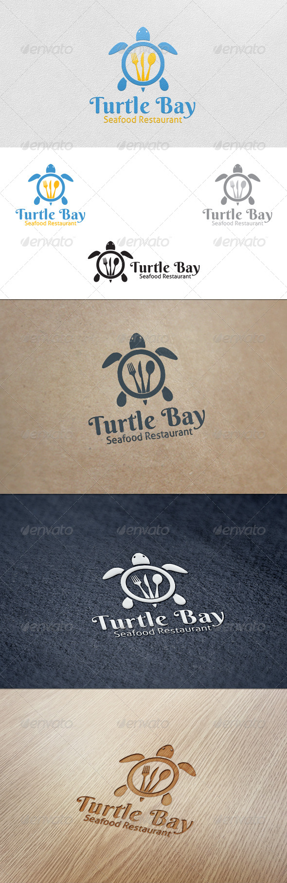 GraphicRiver Turtle Bay Restaurant Logo Template 5597715
