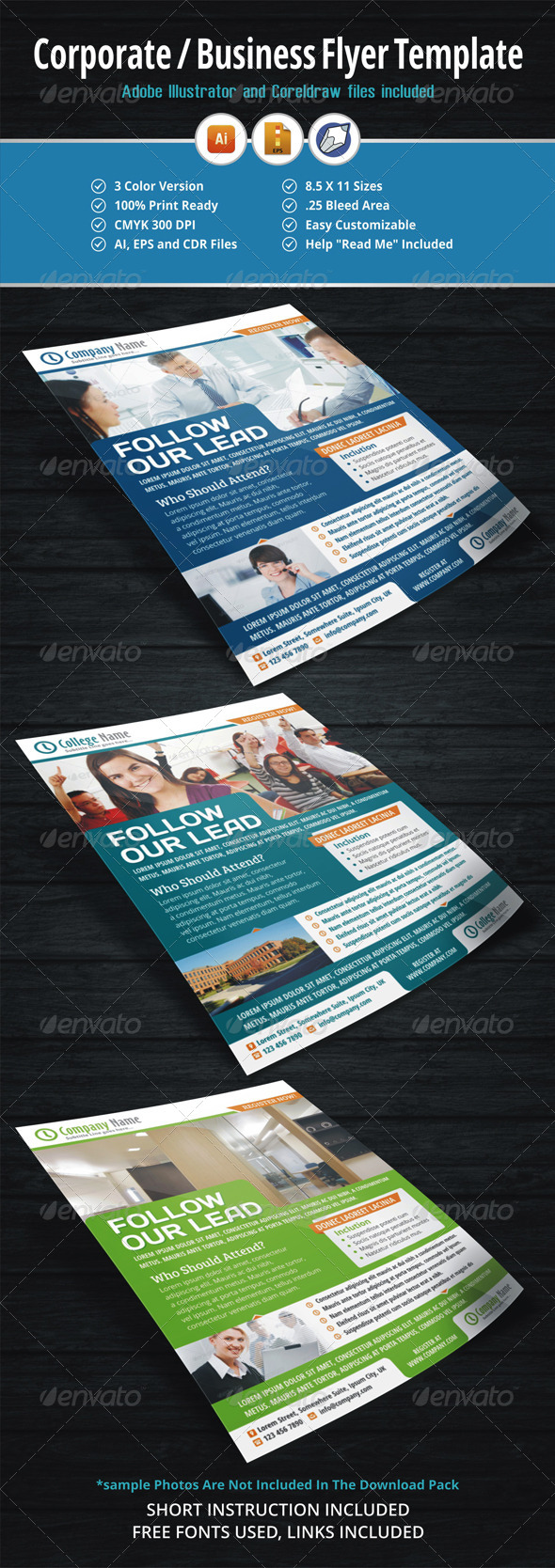 GraphicRiver Corporate Business Flyer Template 5598083