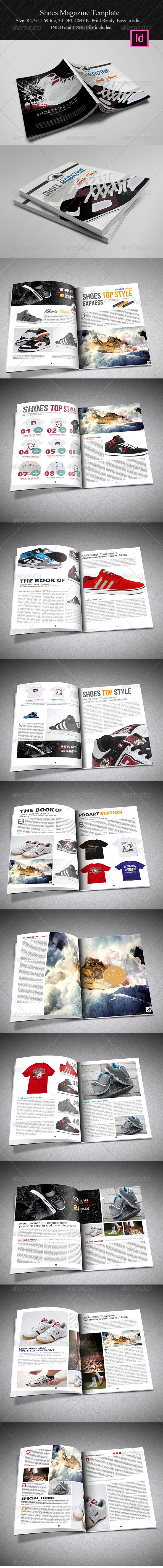 GraphicRiver Shoes Magazine Template 5599876