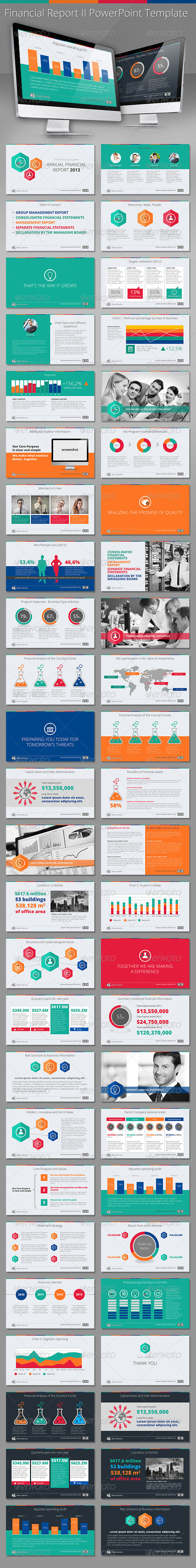 GraphicRiver Finacial Report II HD PowerPoint Template 5600005
