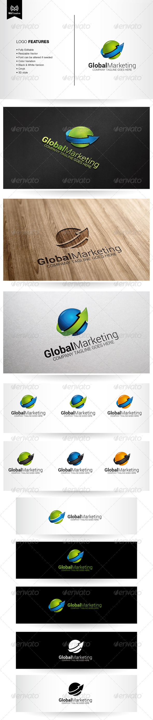 GraphicRiver Growth and Progress Arrow Logo 5600336
