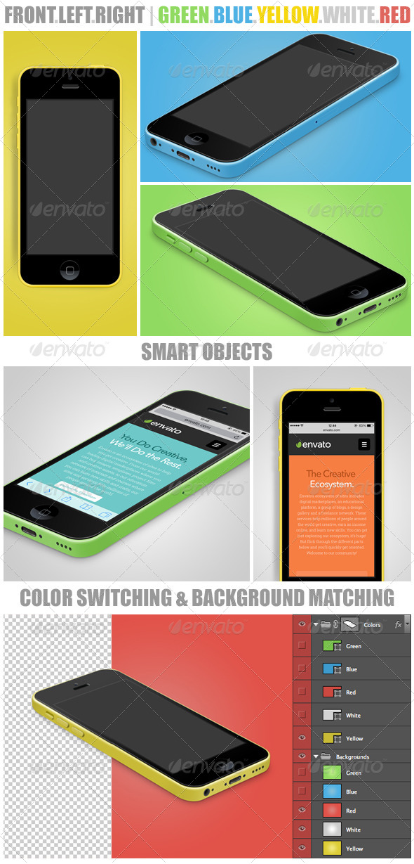 GraphicRiver Phone 5c Mockups 5600721