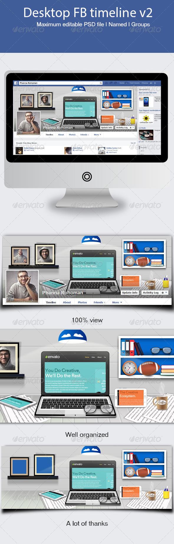 GraphicRiver Desktop FB Timeline V2 5600984