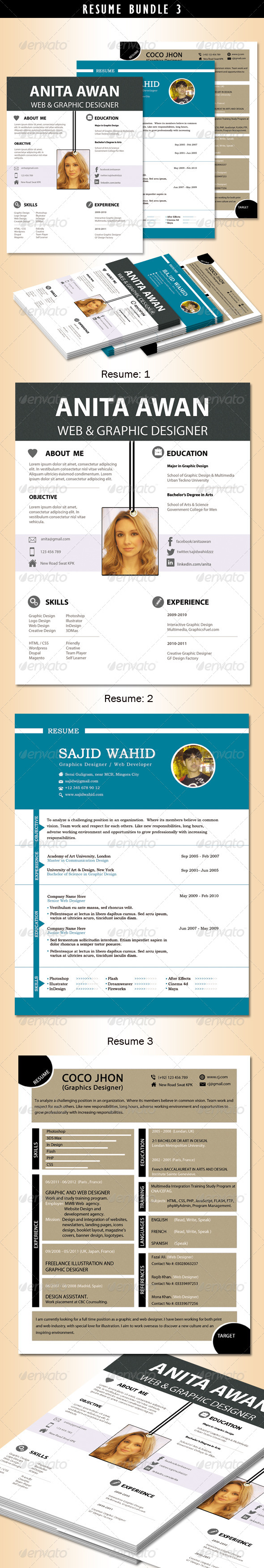 GraphicRiver Resume Bundle no.3 5562734