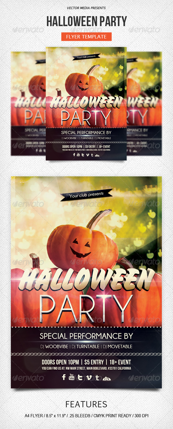 GraphicRiver Halloween Party Flyer 5603270