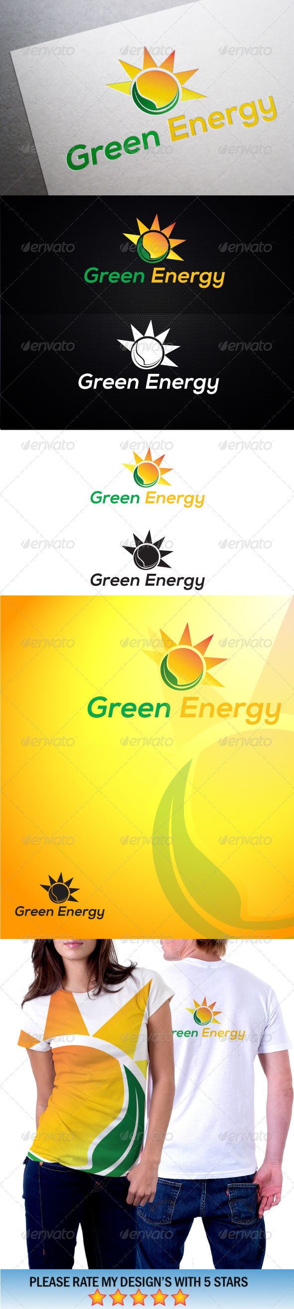 GraphicRiver Green Solar Energy Logo1 5603309
