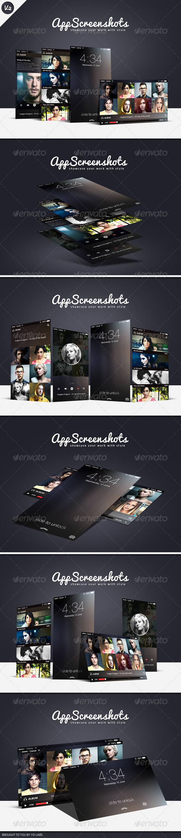 App Screenshot Mockups V2 - Mobile Displays