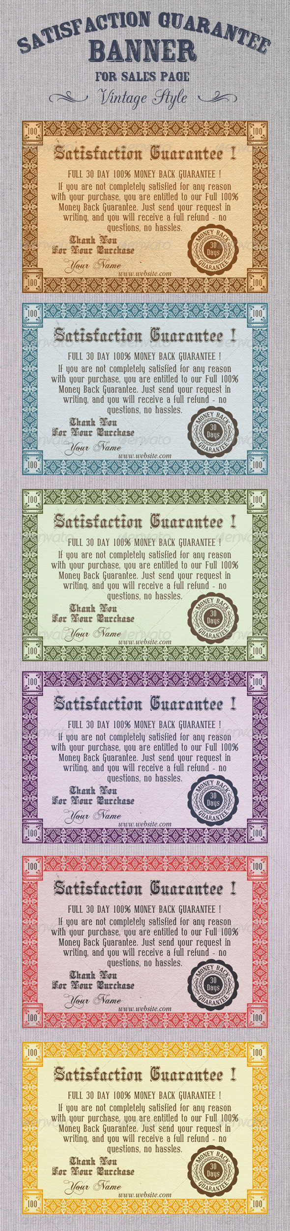 GraphicRiver Satisfaction Guarantee Banner 5605127