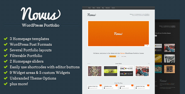 Novus - WordPress Portfolio