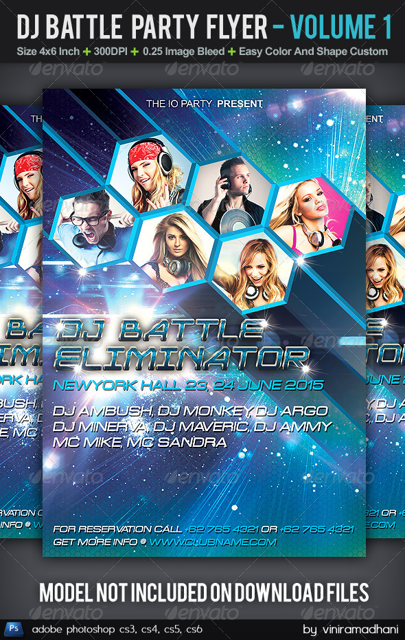 GraphicRiver DJ Battle Party Flyer Volume 1 5605944