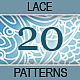 Set of 20 White Seamless Lace Ornaments. - GraphicRiver Item for Sale