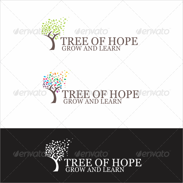 GraphicRiver Summer Tree Logo 5607229